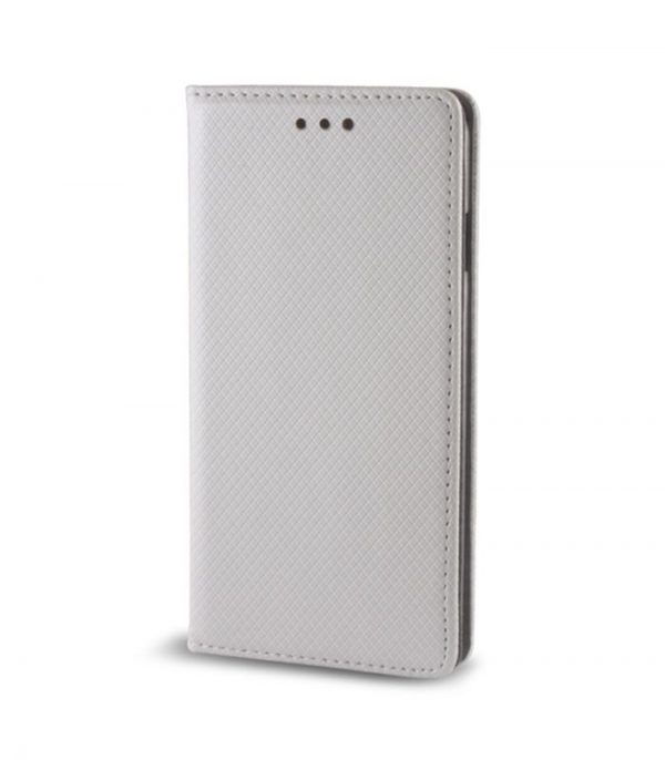 OEM Book Smart Magnet Θήκη για Huawei P9 Lite mini - Ασημί