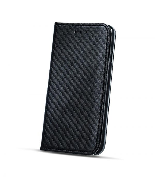 OEM Book Smart Magnet Carbon Θήκη για LG K10 2017 - Μαύρο ... 4b3eea1ffee