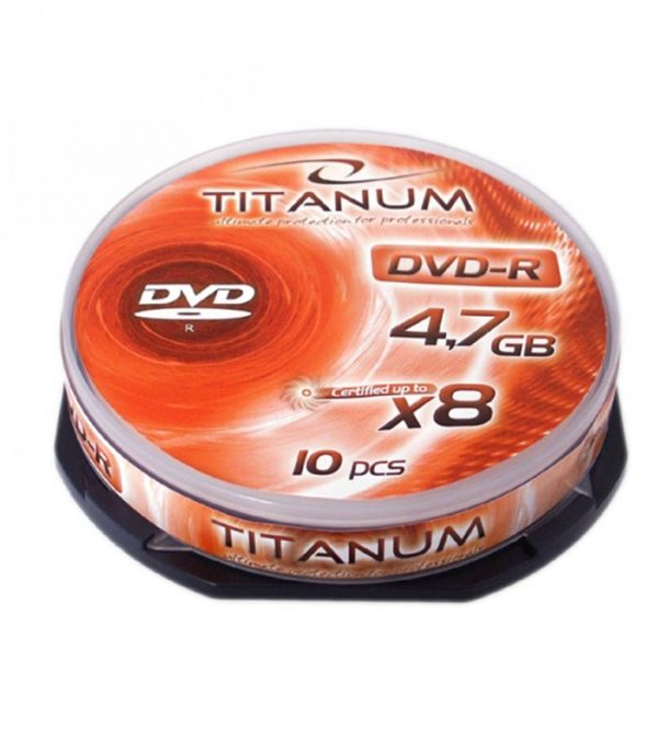 Titanum DVD-R 4,7GB X8 Cake Box 10pcs