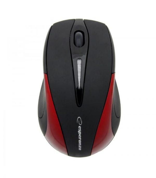 Esperanza Antares EM101R Ασύρματο Ποντίκι 2.4GHz - Κόκκινο
