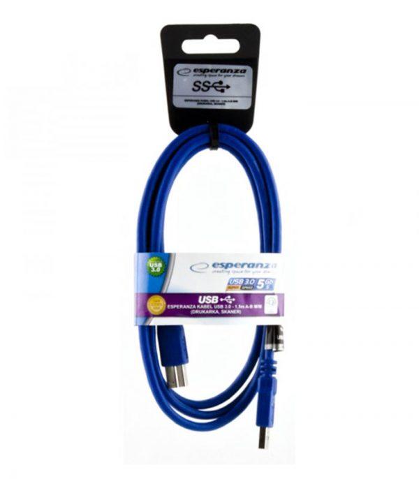 Esperanza Usb 3.0 A-B for Printers Cable 1.5m