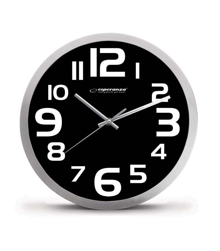 Esperanza EHC013K Ρολόι Τοίχου Zurich - Μαύρο - MrBig.gr 49856baa1e8