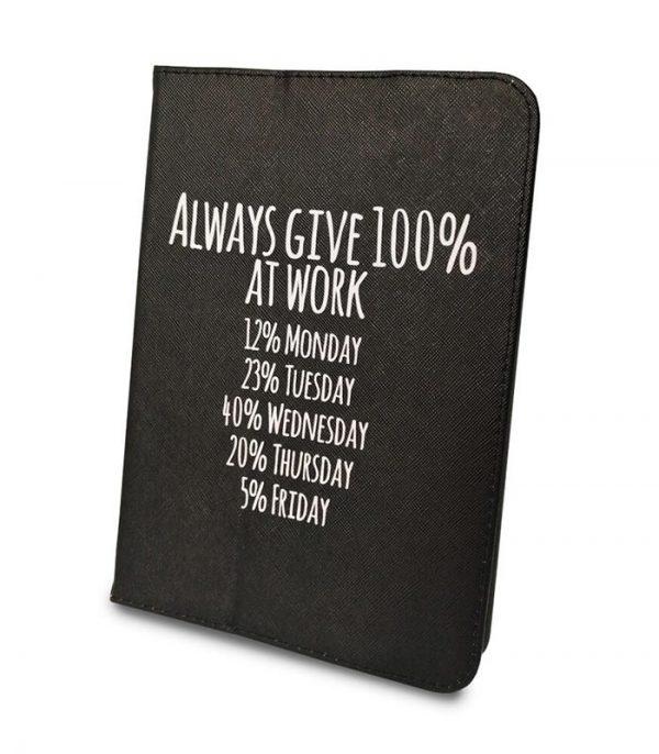 "Always Give 100% Θήκη Universal για Tablet 9""-10"" - Μαύρο"