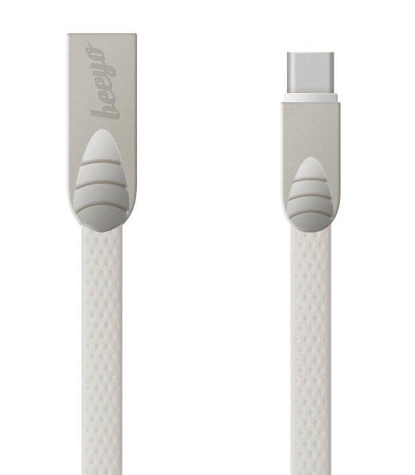 Beeyo Flat USB C-Type Καλώδιο - Λευκό