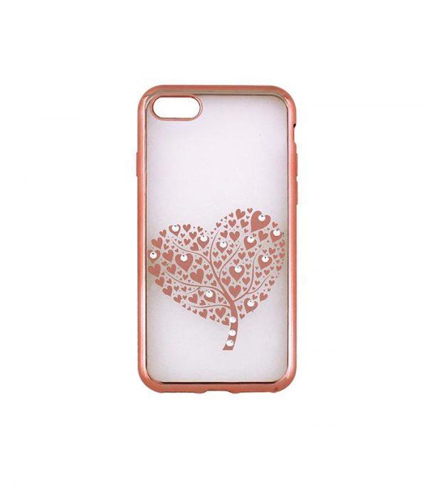 Beeyo Hearts Tree Θήκη για Samsung S9 - Ροζ Χρυσό