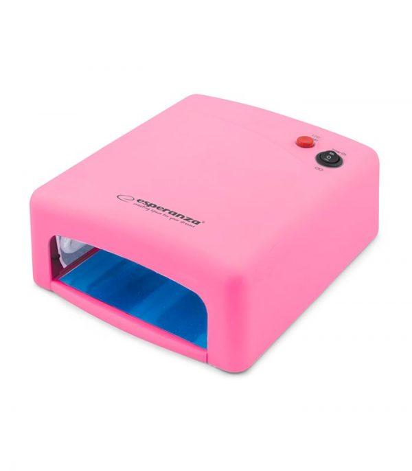 Esperanza EBN001P Saphirre Φουρνάκι Νυχιών με 4 Λάμπες UV - Ροζ