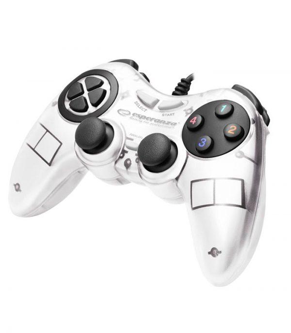 Esperanza EGG105W Fighter Ενσύρματο Gamepad Vibration PC - Λευκό