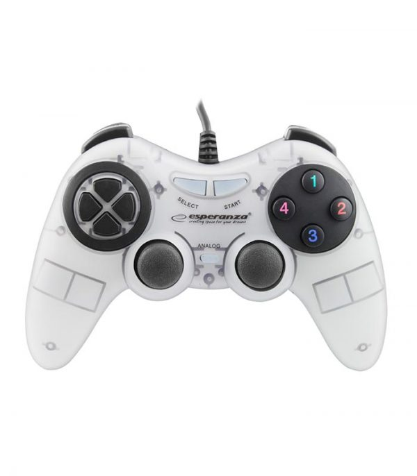 Esperanza EGG105W Fighter Ενσύρματο Gamepad Vibration PC - Λευκό
