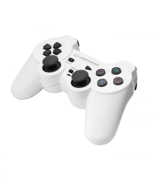 Esperanza EGG106W Corsair Ενσύρματο Gamepad Vibration PS2/PS3/PC - Λευκό