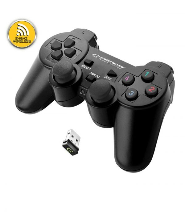 Esperanza EGG108K Gladiator Wireless 2.4GHZ Gamepad PS3/PC - Μαύρο