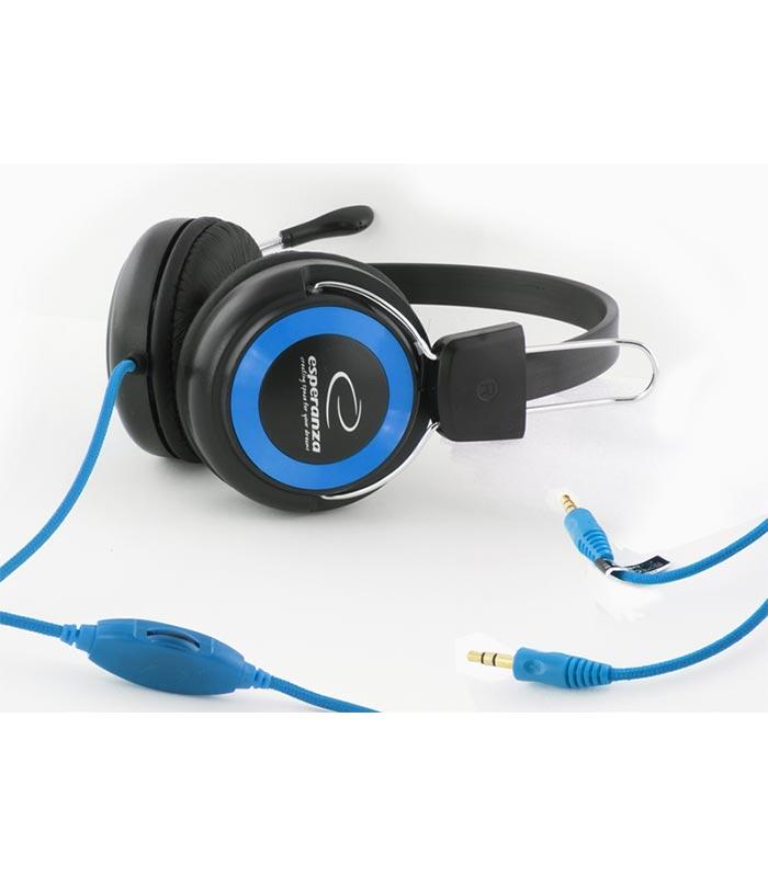Esperanza EH152B Falcon Ακουστικά με Μικρόφωνο - Μπλε