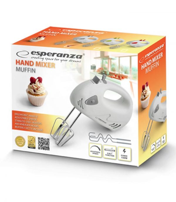 Esperanza EKM007E Muffin Μίξερ Χειρός 150W