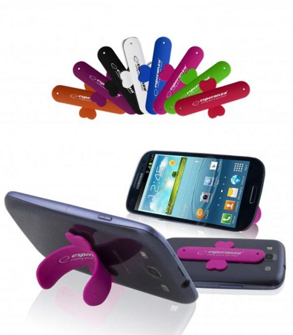Esperanza EMS110 U-Strip Βάση Σιλικόνης για Smartaphone/Tablet (2τμχ)