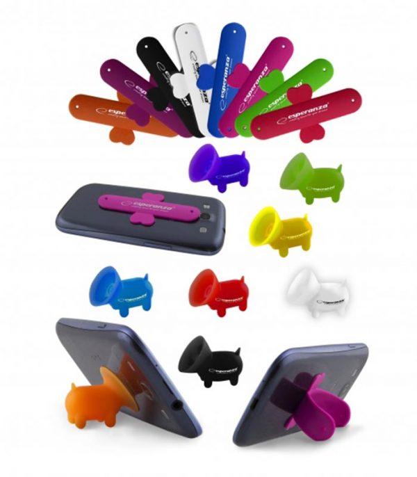 Esperanza EMS112 U-Strip Βάση Σιλικόνης για Smartaphone/Tablet (4τμχ)