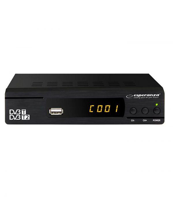 Esperanza EV104 Επίγειος Ψηφιακός Δέκτης MPEG4 Full HD DVB-T2