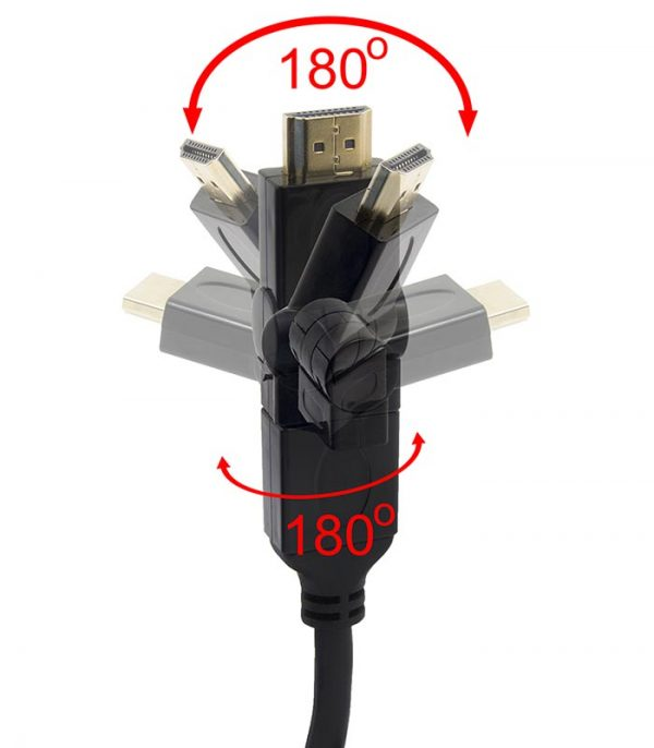 Esperanza Καλώδιο HDMI male- HDMI male Περιστρεφόμενο Βύσμα (3m)