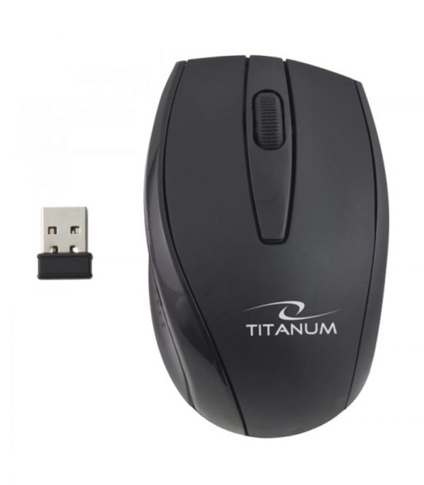 Titanum TK104 Orlando Πληκτρολόγιο και Ποντίκι Ασύρματο - Μαύρο