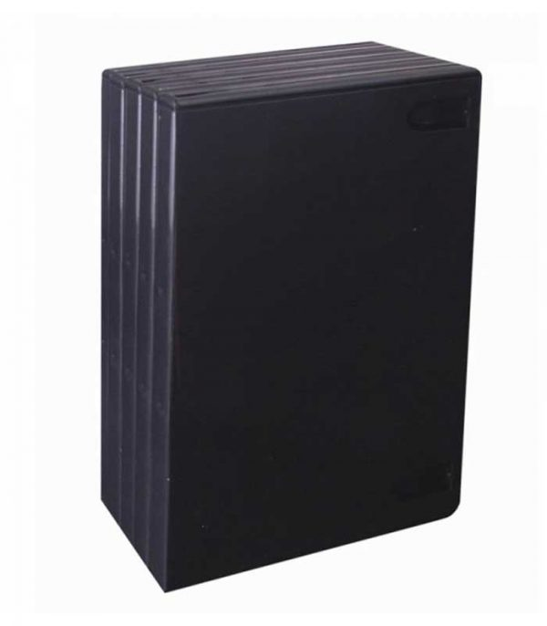 BOX FOR 1 DVD - BLACK (14 MM.) - PACKAGE 5 PCS