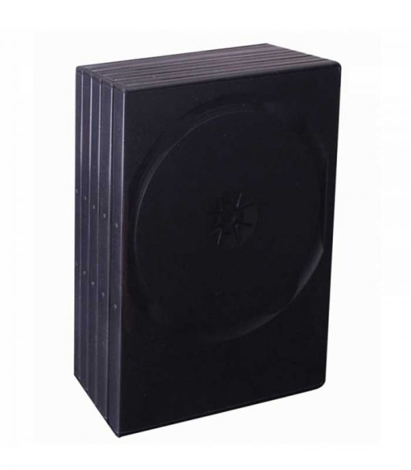 BOX FOR 2 DVD - BLACK (14 MM.) - PACKAGE 5 PCS