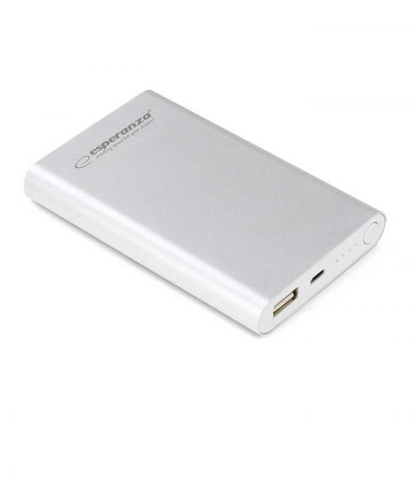 Esperanza Neutrino Power Bank 8800mAh - Ασημί