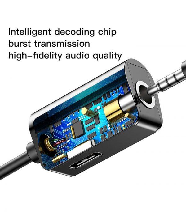 Baseus USB-C male - USB-C female / mini-jack (3.5 mm)