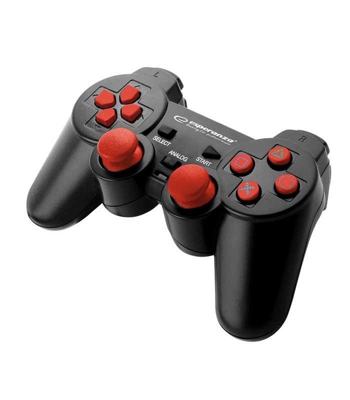 Esperanza EGG107R Trooper Ενσύρματο Gamepad PS3/PC - Μαύρο/Κόκκινο