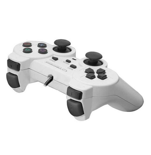Esperanza EGG107W Trooper Ενσύρματο Gamepad PS3/PC - Λευκό/Μαύρο