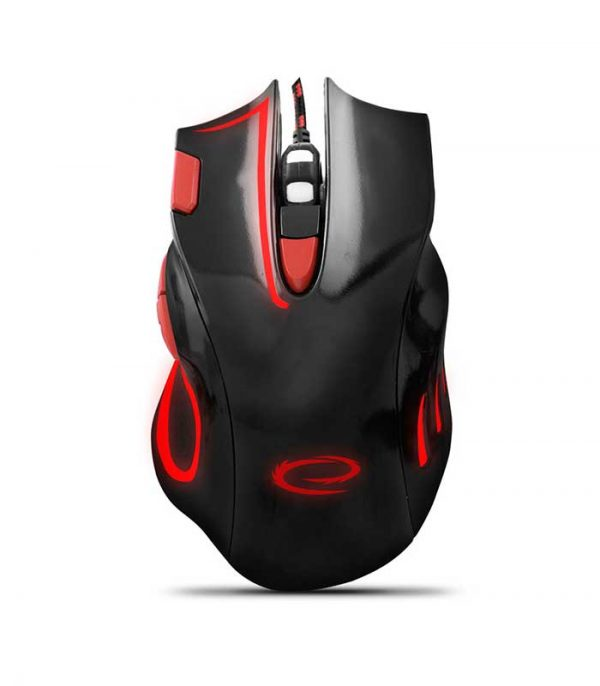 Esperanza EGM401KR HAWK Gaming Ποντίκι Ενσύρματο - Μαύρο/Κόκκινο