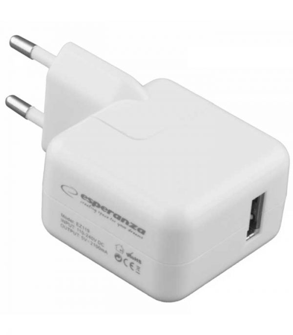Esperanza EZ119 Wall Adapter - Λευκό