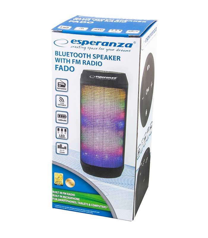 Esperanza Fado EP133K Bluetooth Speaker, FM Radio, LED Light
