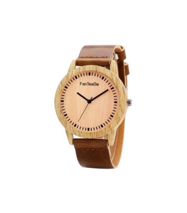 FanTeeDa FD067 Ξύλινο Ρολόι Χειρός Αναλογικό - Καφέ