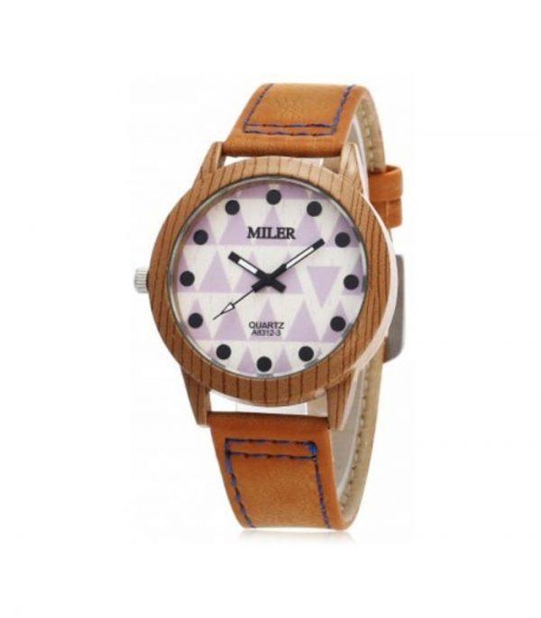 Miler 83123 Ρολόι Χειρός Αναλογικό Neutral Quartz - Καφέ