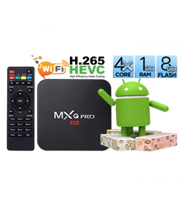 MXQ Pro Android TV Box With Amlogic S905 (1GB/8GB)