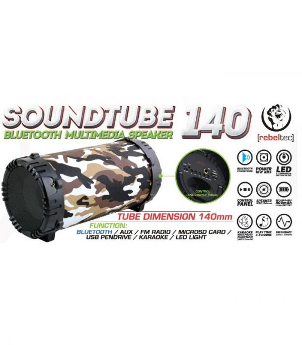 Rebeltec SoundTube 140 Bluetooth Ηχείο - Camouflage