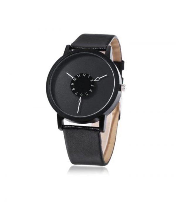 Ρολόι Χειρός Αναλογικό Quartz Unique Design - Μαύρο