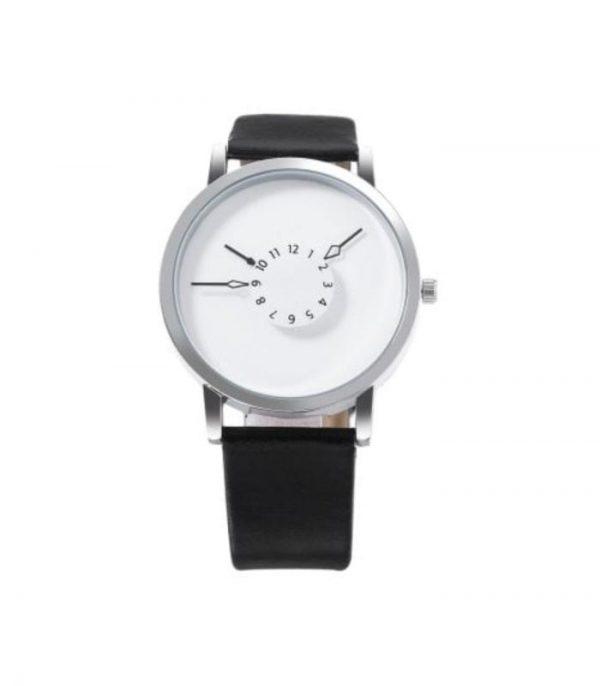 Ρολόι Χειρός Αναλογικό Quartz Unique Design - Λευκό/Μαύρο