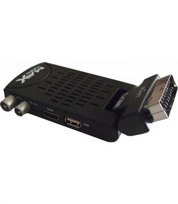 MAX T225HD DVB-T2 HD Mini Scart Επίγειος Ψηφιακός αποκωδικοποιητής MPEG4 Full HD DVB-T/T2