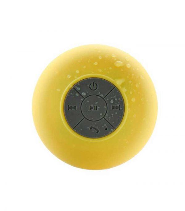 Αδιάβροχο Bluetooth Ηχείο Βεντούζα BTS-06 - Κίτρινο