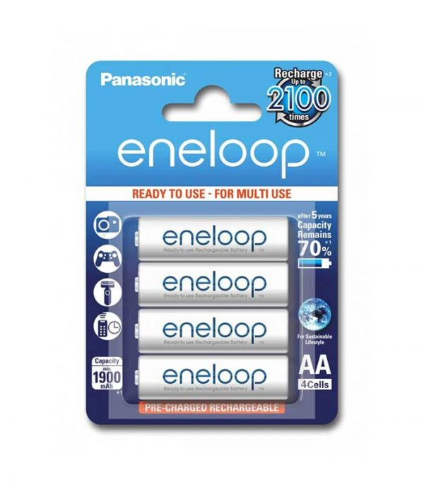 Panasonic Eneloop AA 1900mAh Επαναφορτιζόμενες (4τμχ)