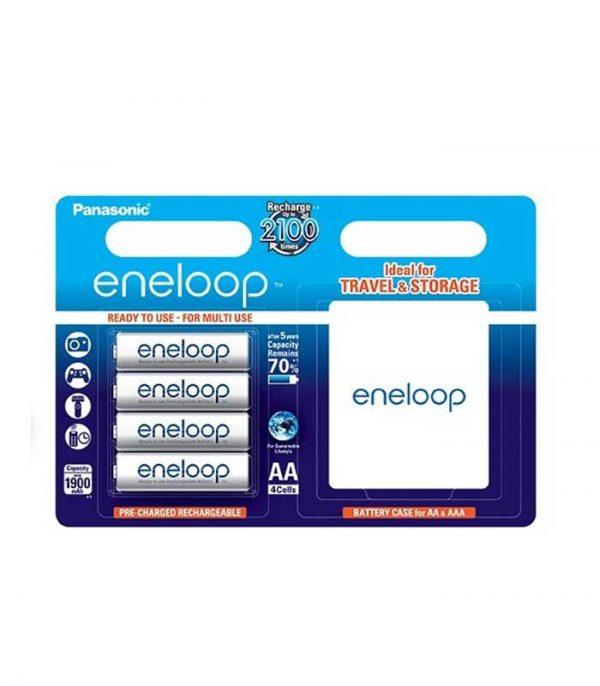 Panasonic Eneloop AA 1900mAh Επαναφορτιζόμενες (4τμχ) και Θήκη