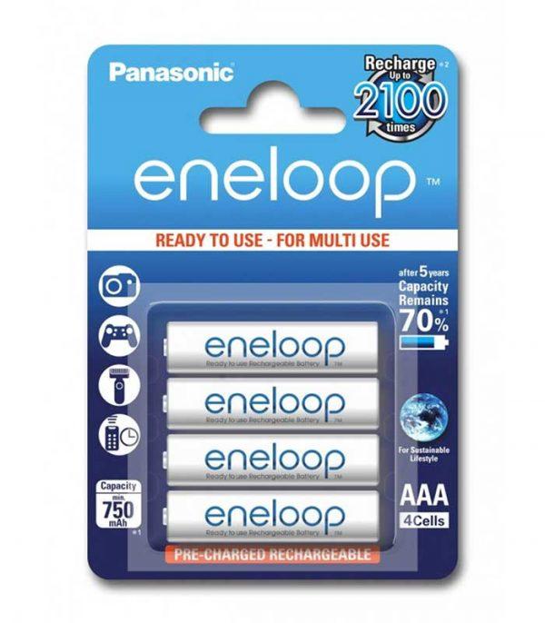 Panasonic Eneloop AAA 750mAh Επαναφορτιζόμενες (4τμχ)