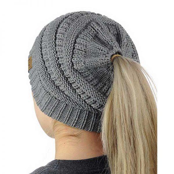 Σκούφος για Κοτσίδα Ponytail Hats - Γκρι