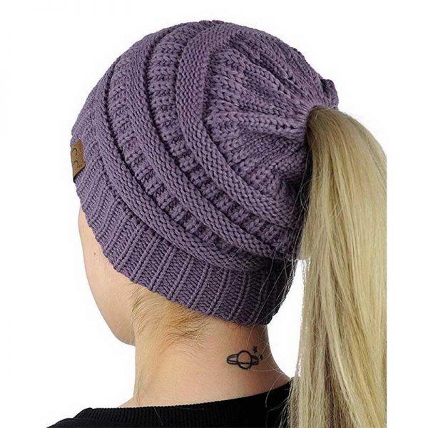 Σκούφος για Κοτσίδα Ponytail Hats - Μωβ
