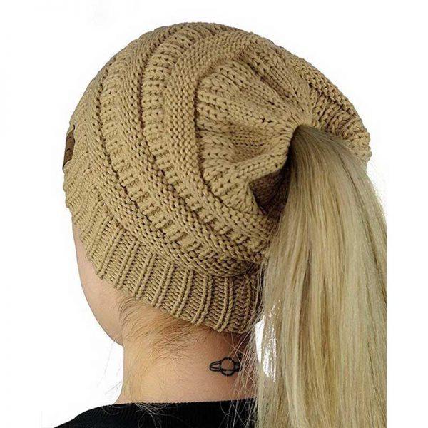 Σκούφος για Κοτσίδα Ponytail Hats - Μπεζ