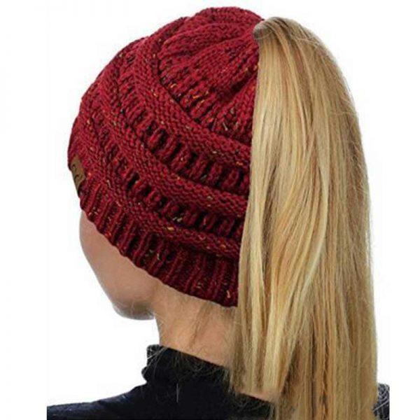 Σκούφος για Κοτσίδα Ponytail Hats - Μπορντό
