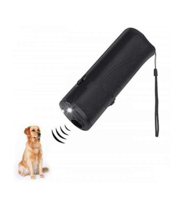 Συσκευή Απώθησης / Εκπαίδευσης Σκύλου με Υπερήχους + Φακός - Μαύρο