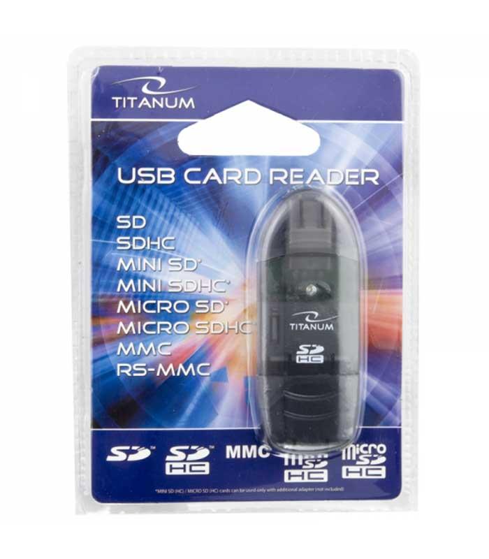 Titanum TA101K SDHC Card Reader USB 2.0 - Μαύρο