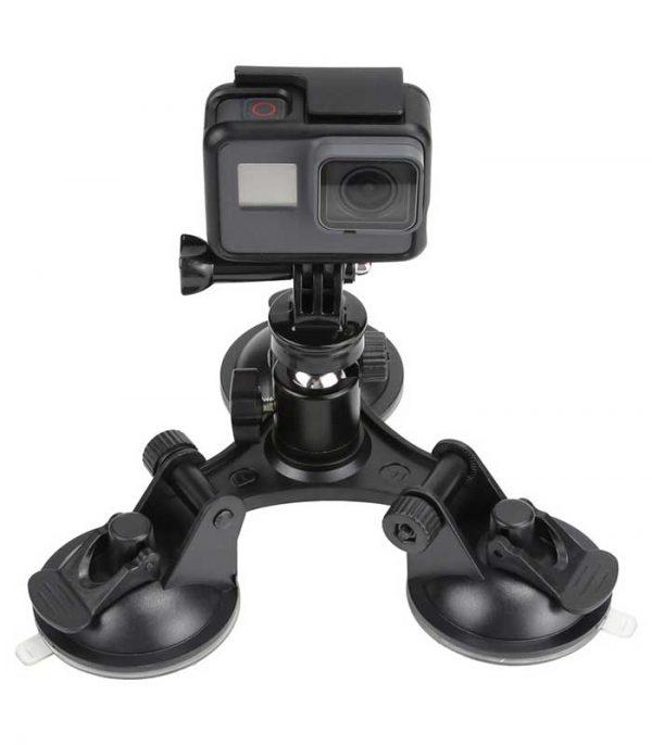 Τριγωνική Βάση με Βεντούζες για Action Cameras