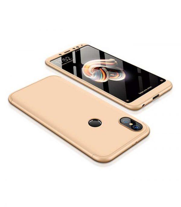 ΟΕΜ TPU Front / Back 360 Θήκη για Xiaomi Redmi Note 5 - Χρυσό