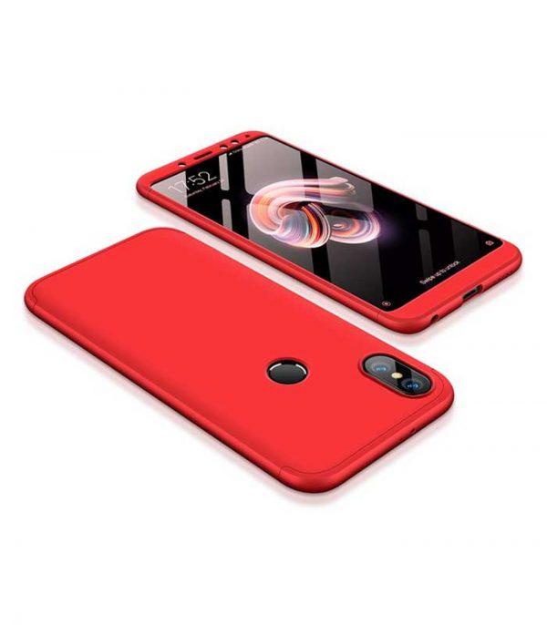 ΟΕΜ TPU Front / Back 360 Θήκη για Xiaomi Redmi Note 5 - Κόκκινο